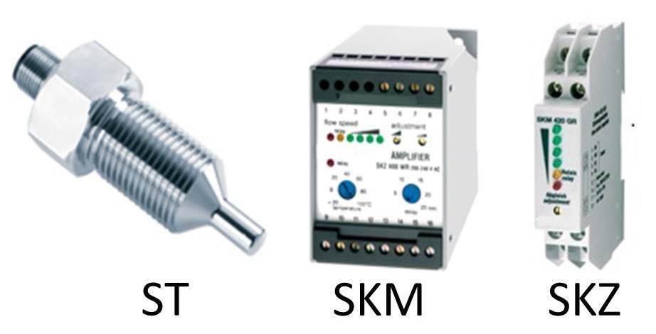 Kalorimetrischer Strömungswächter ST, Auswertegeräte SKM und SKZ